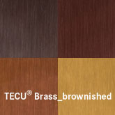 KME copper tecu-brass-brownished
